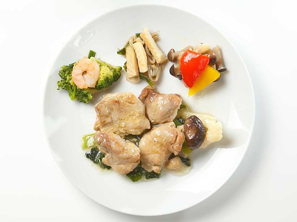 公式サイトの写真と、実際の食材の比較